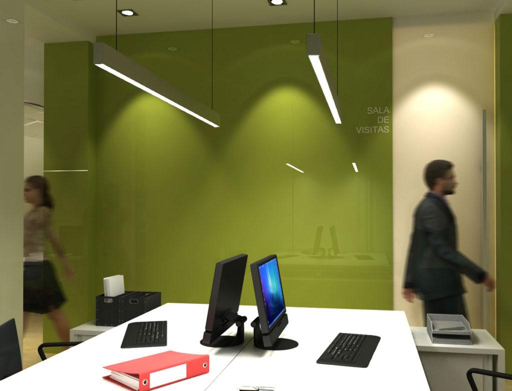 Dise o de interiores para oficina en alicante arinni estudio for Empresa diseno de interiores