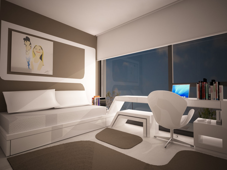 Dise o estudio dormitorio casa dise o for Diseno dormitorio