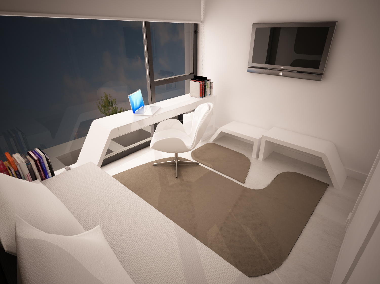 Dormitorio invitados dise o arinni arinni estudio for Dormitorio invitados
