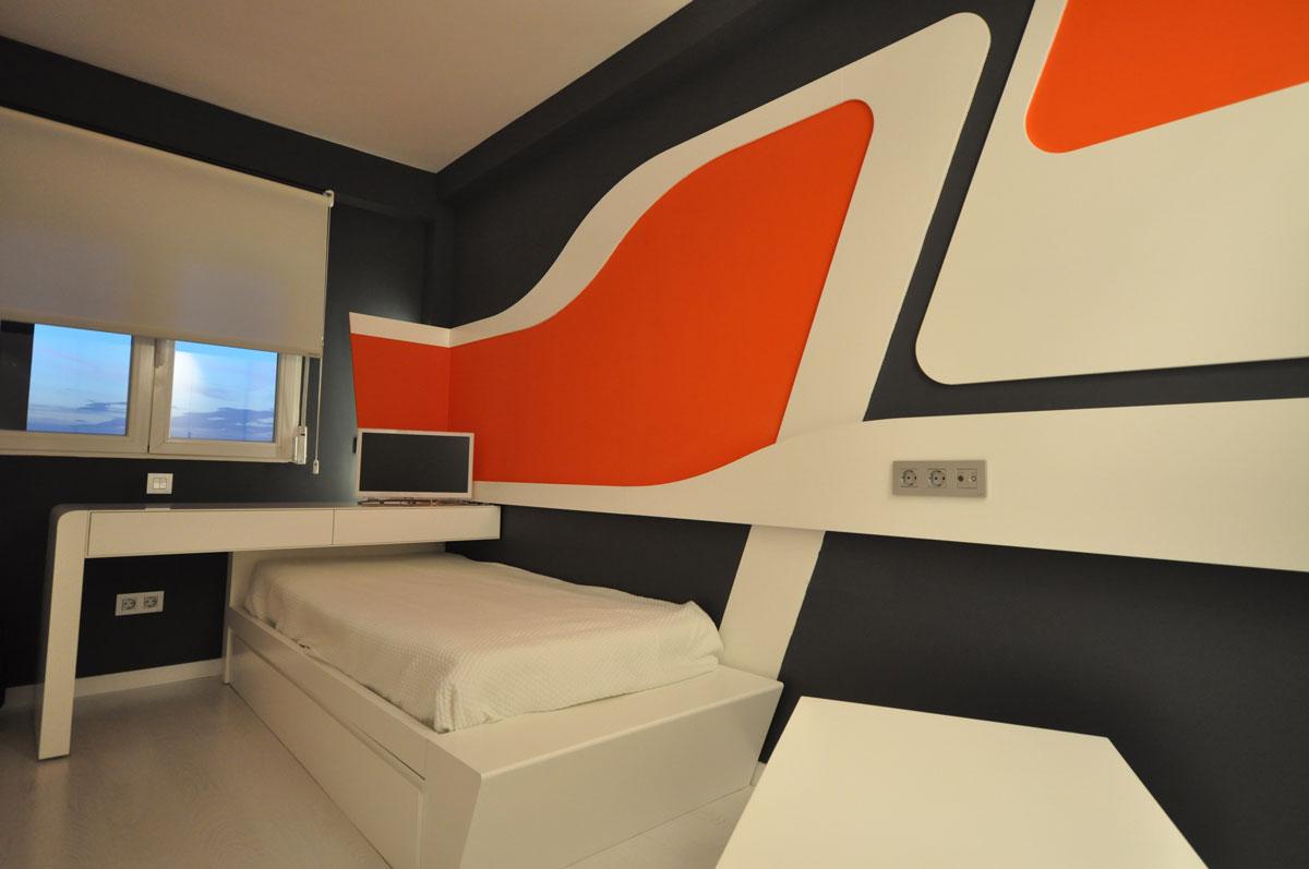Dise o de dormitorios juveniles estudio arinni for Diseno habitaciones