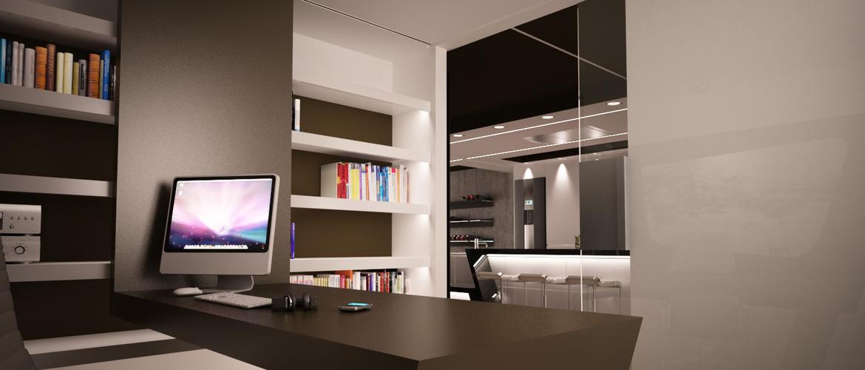 Un espacio de trabajo en casa arinni estudio for Fotos despachos en casa