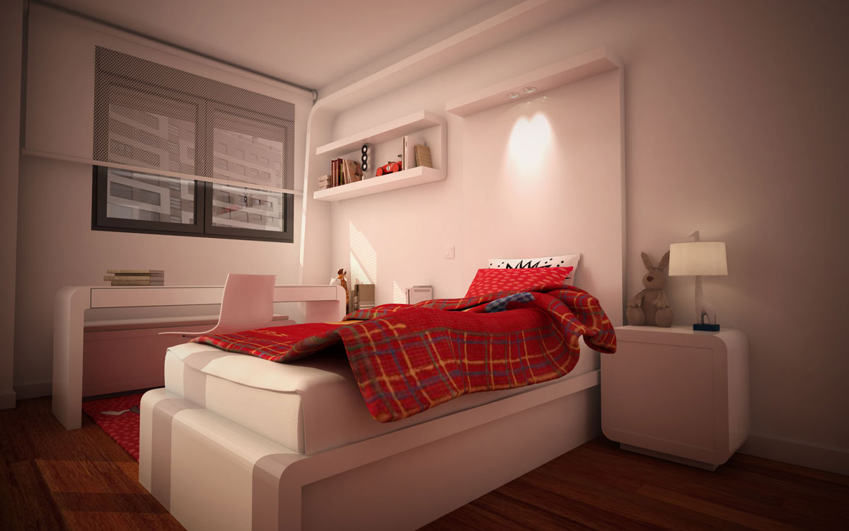 Dise o de mesita para dormitorio juvenil estudio arinni - Diseno dormitorio juvenil ...