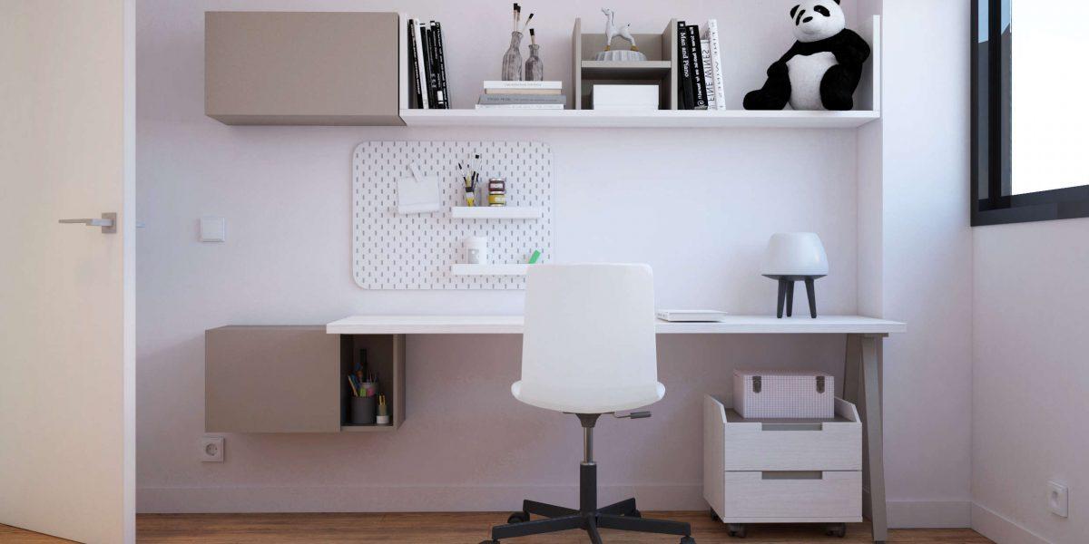 7 Habitación niña escritorio